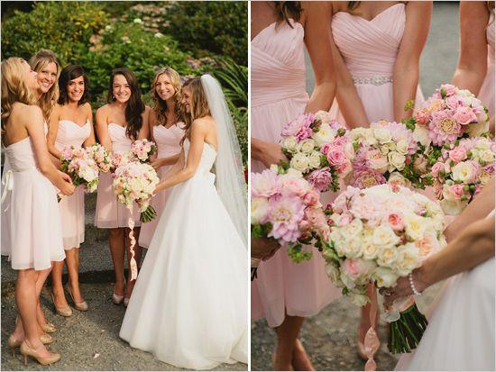 Pink And Peach Vintage Garden Wedding