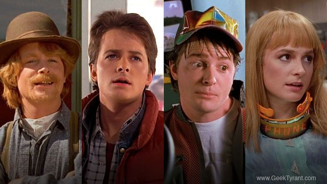 Michael J. Fox plays as Marty, Marty McFly Jr., Marlene McFly in ...