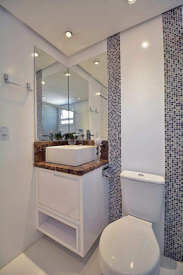 20 ideias econ micas para reformar seu banheiro pequeno - Reformar bano pequeno ...