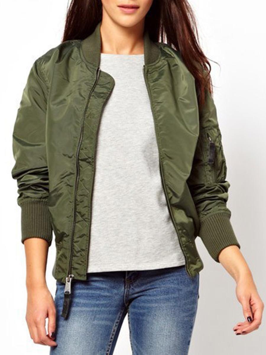 Lady Short Coat Jacket Blazer Army Outwear Camouflage Bomber Zip Up Classic Zip