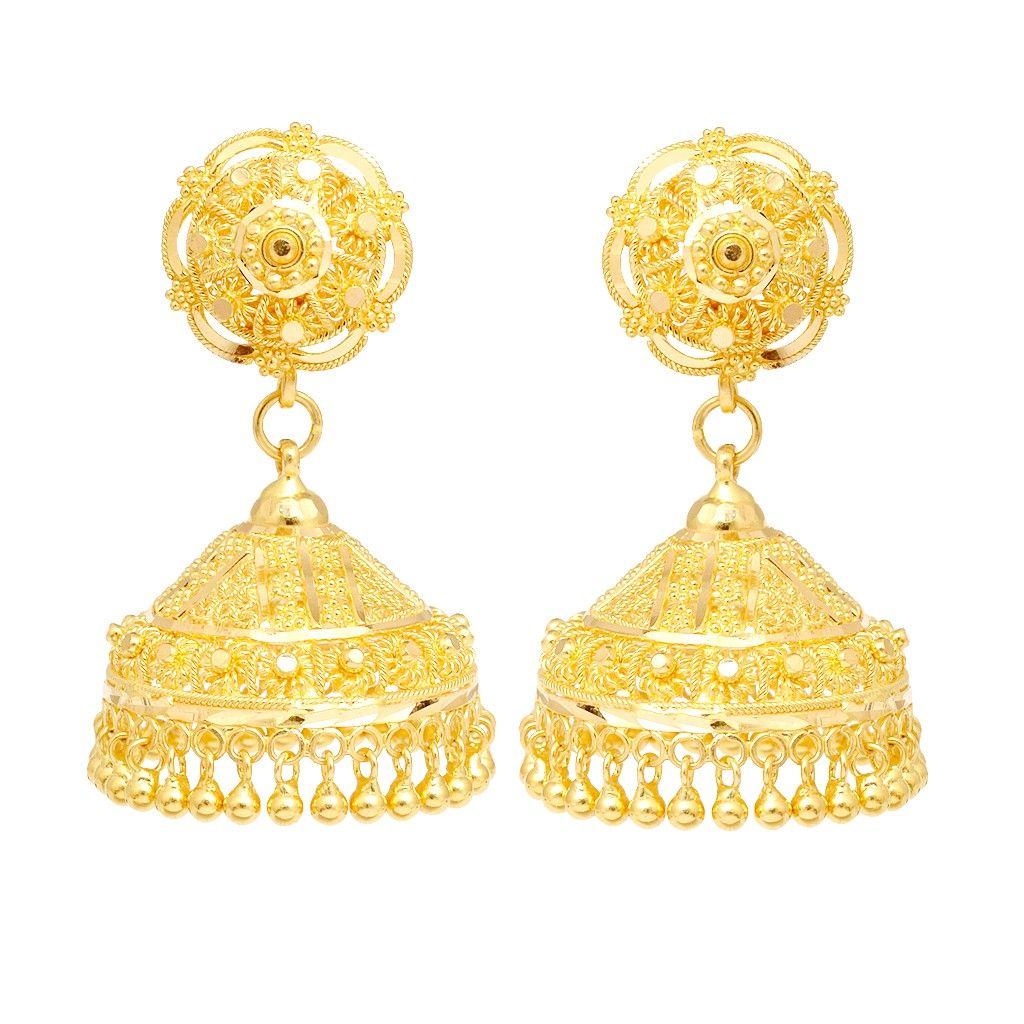 22k Yellow Gold Hanging Earrings  Earrings  Type  Products