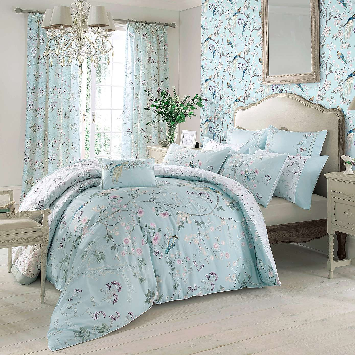 Bedroom Decorating Ideas Duck Egg Blue dorma duck egg maiya bed linen collection | dunelm | goldilocks