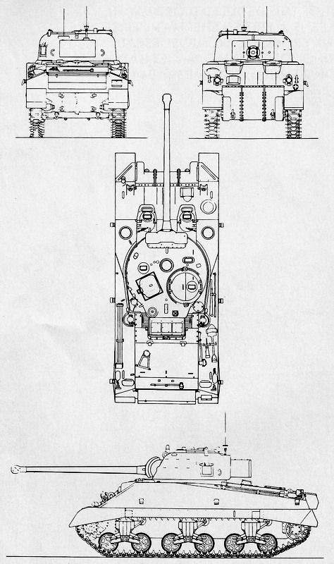 schematic diagram of a sherman firefly converted from the m4a4 (sherman mk   vc) medium tank