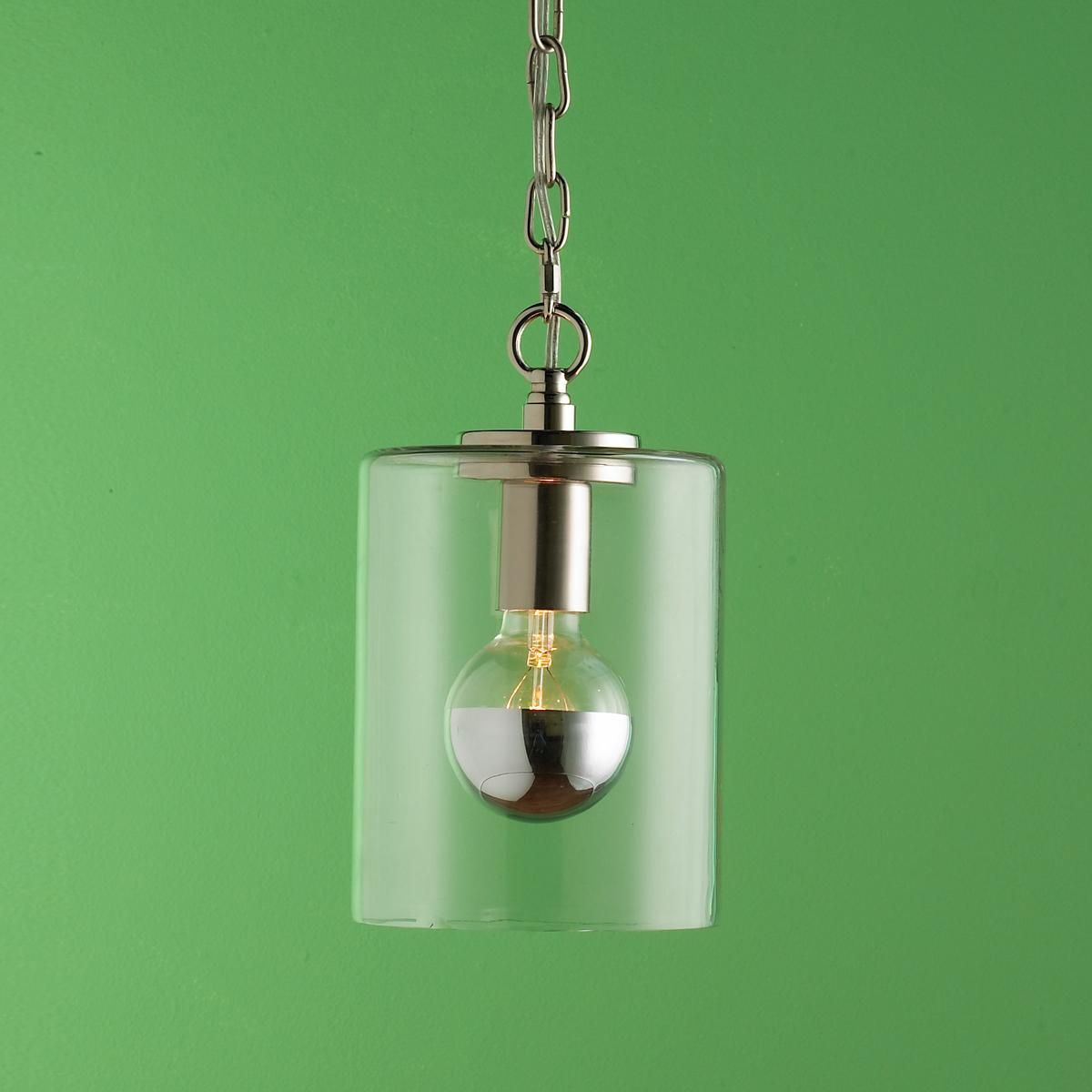 Soho Bar Pendant With 3 Opal White Glass Lights Supended: Crystal & Clear Glass