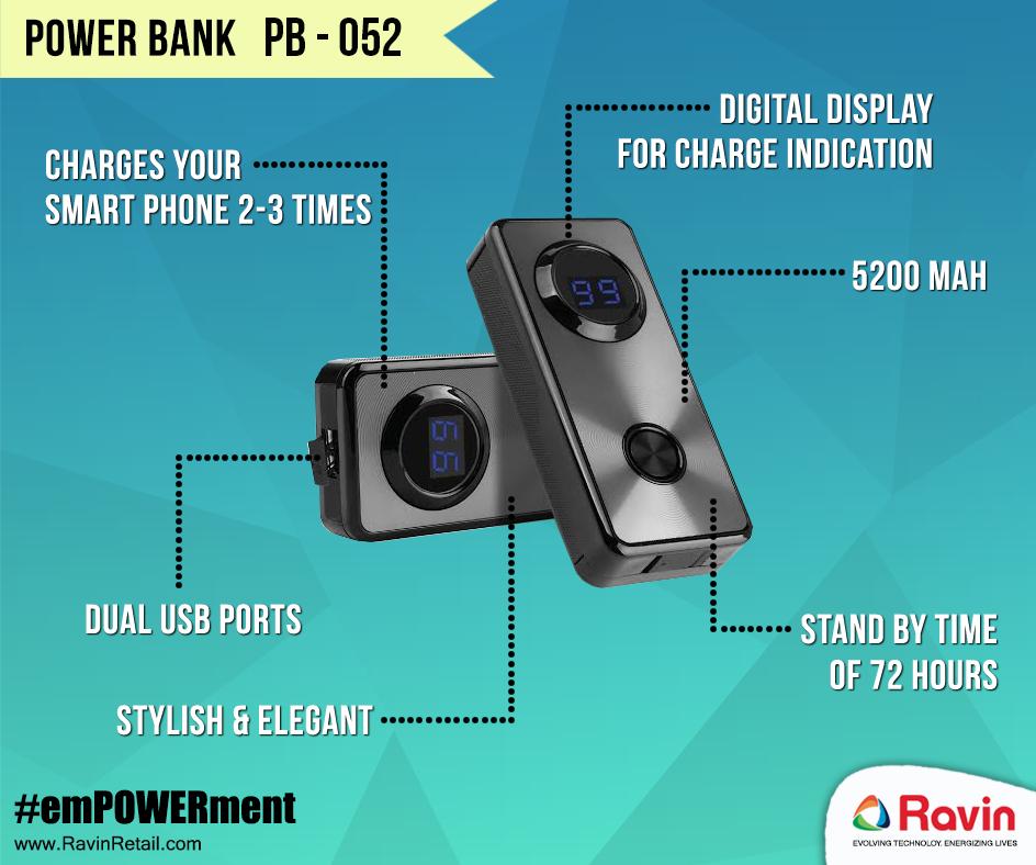 Power Bank PB 052 Style & elegance redefined. PowerBank