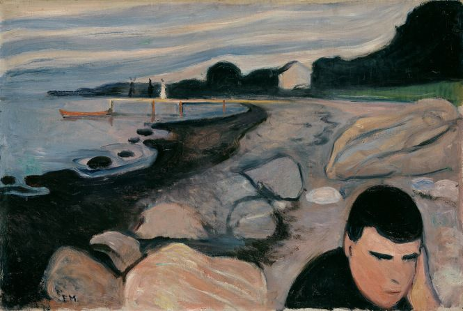 """Edvard Munch, """"Melancholy"""", 1892. The National Museum. Photo: The National Museum"""