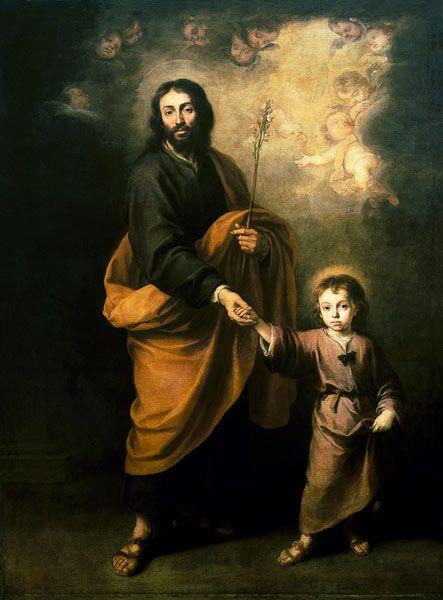 Art Of Saint Joseph St Joseph With The Jesusknaben Bartolome Esteban Perez Murillo St Joseph Christ Child Jesus