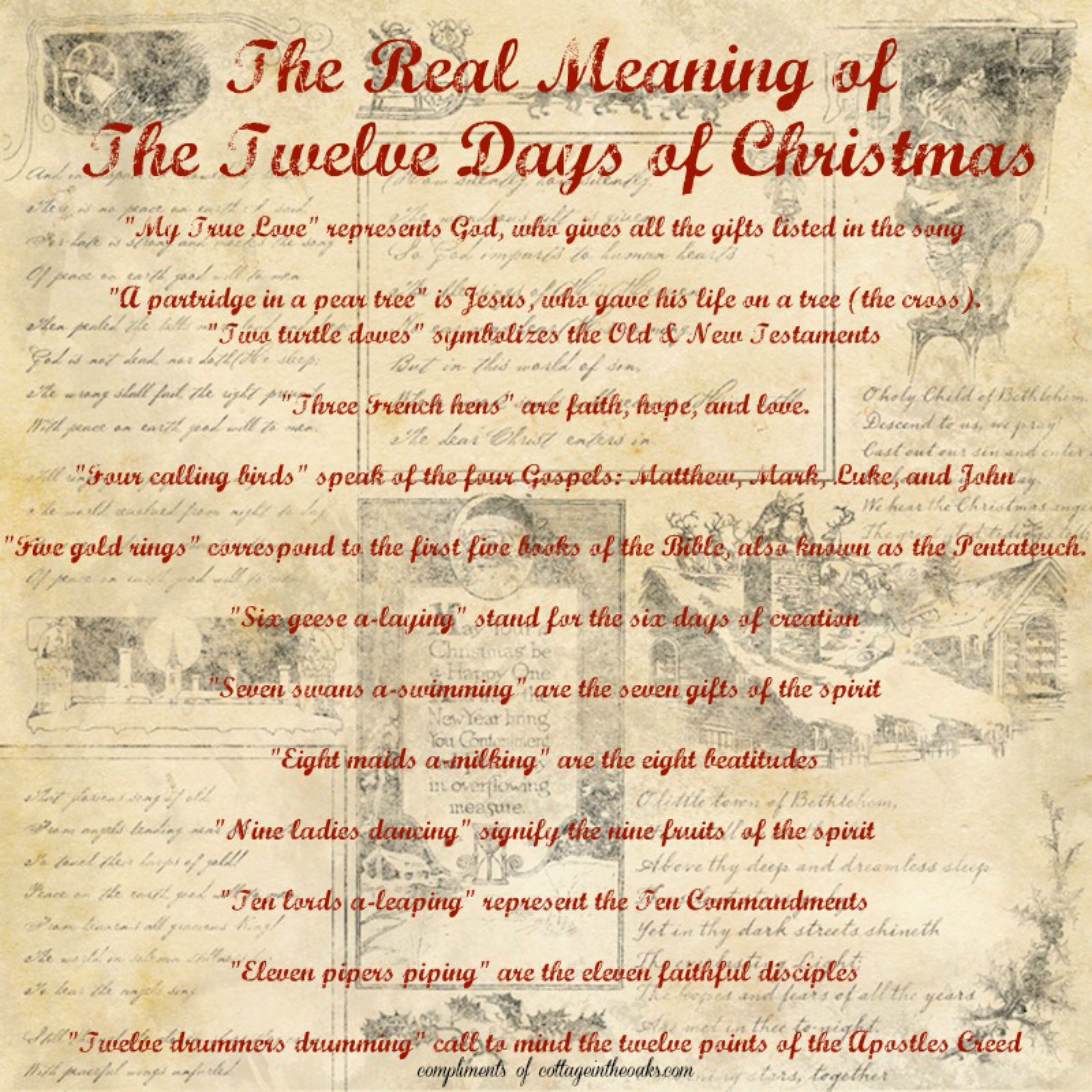 The meaning of the twelve days of christmas christmas the meaning of the twelve days of christmas negle Choice Image