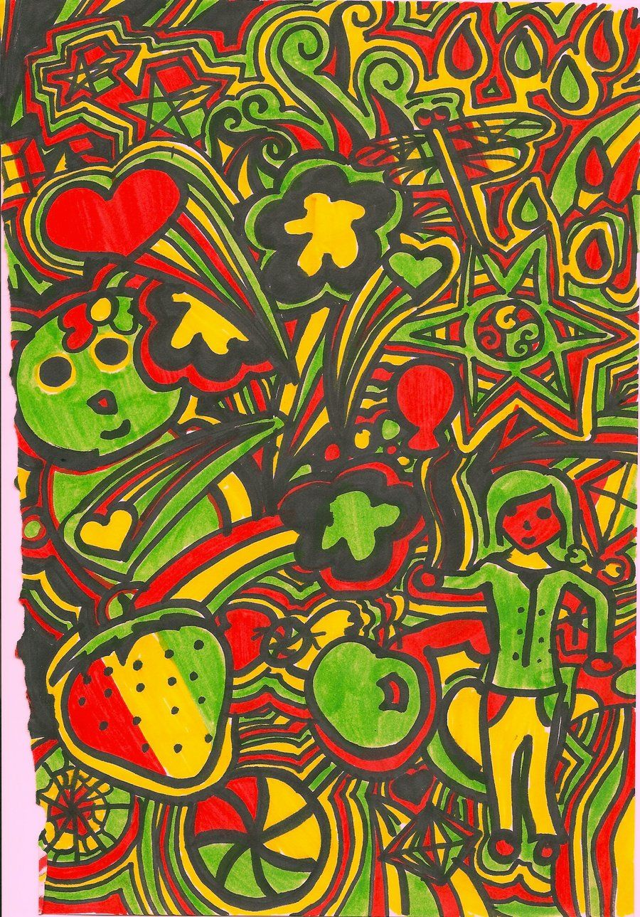 Wallpaper iphone rasta - Rasta Doodle