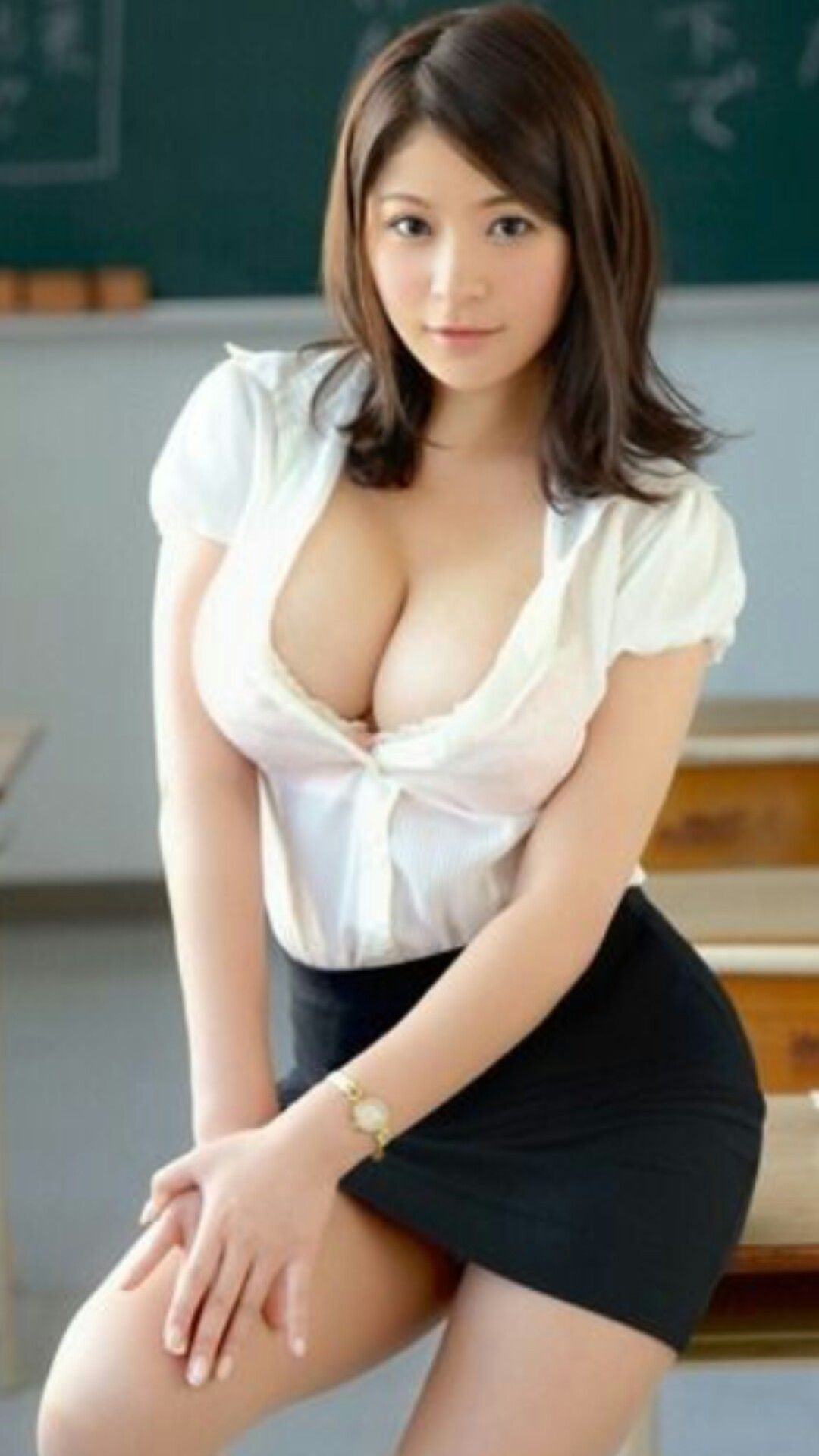 Hight school model pussy