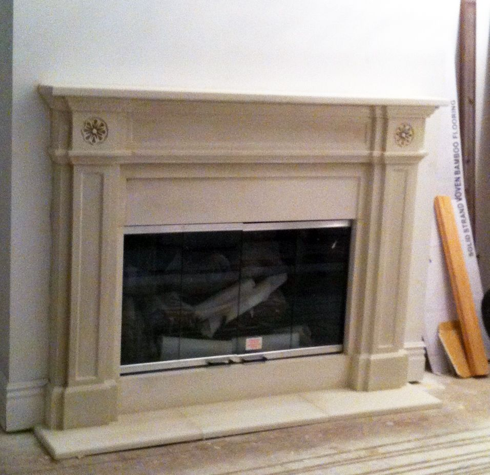 English regent contemporary cast stone fireplaces custom for Marble for fireplace surround