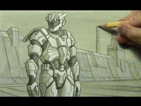 Futuristic Armor Illustration Techniques Illustration Techniques Futuristic Armour Illustration