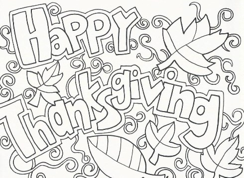 Thanksgiving Coloring Pages Full Size Amazing Design