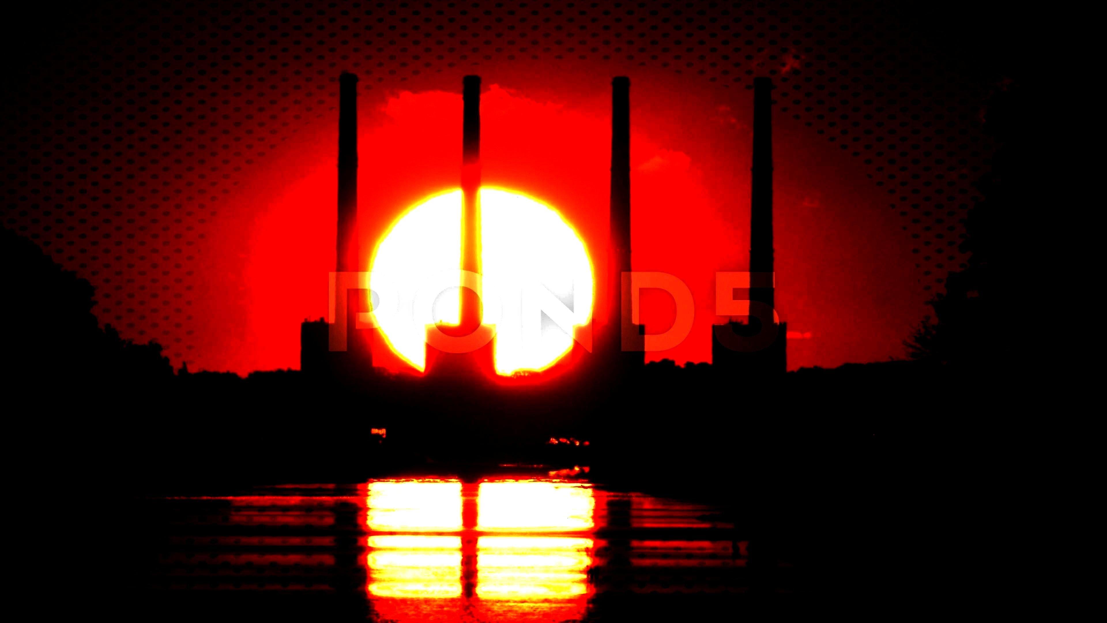 Footage ,#smoke#Sunrises#stacks#FootageSunrises behind smoke stacks. Stock Footage ,#smoke#Sunrises