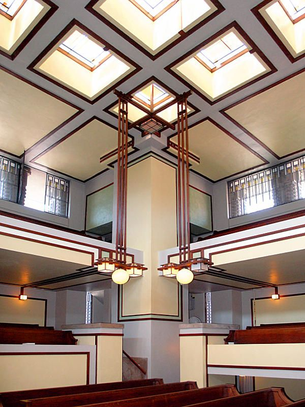 Interior Detail at the Unity Temple Oak