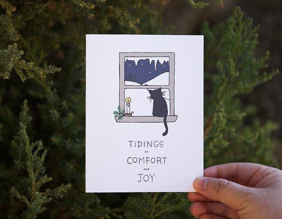 Christmas In Evergreen Tidings Of Joy.Tidings Of Comfort And Joy Holiday Card Merry Christmas