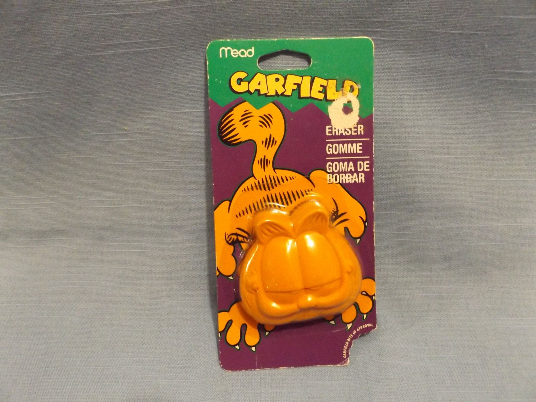 Garfield with Logo Eraser Set of 2