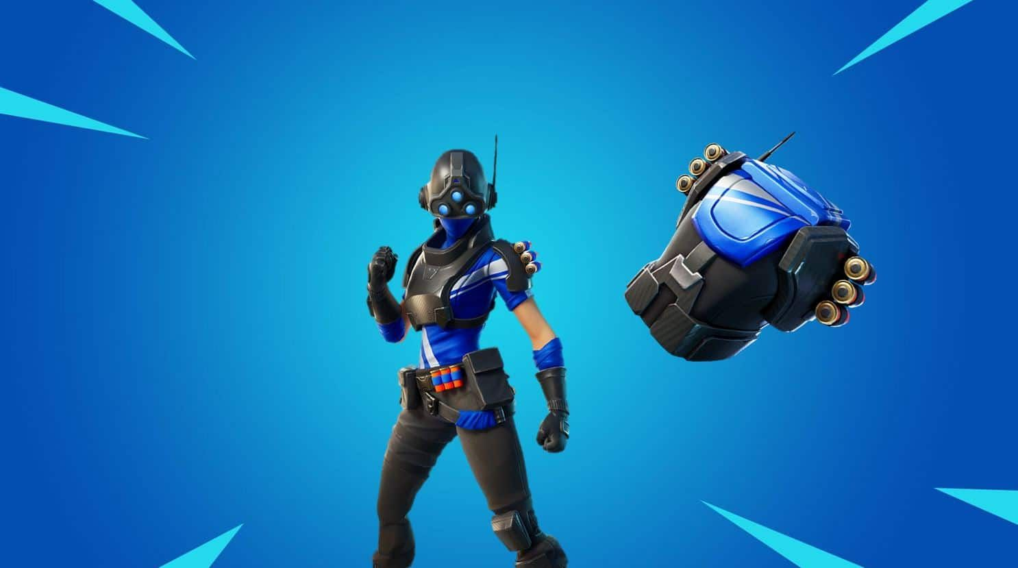 Fortnite Free Playstation Plus Celebration Pack Trilogy Skin Reliant Blue Back Bling Free Playstation Plus Blue Back Fortnite
