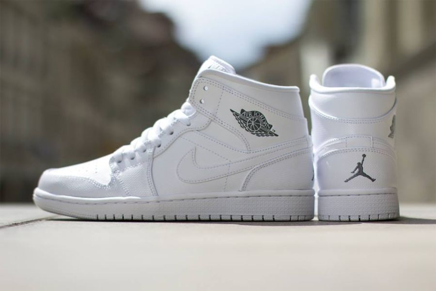 air jordan 1 mid retro all white 4s