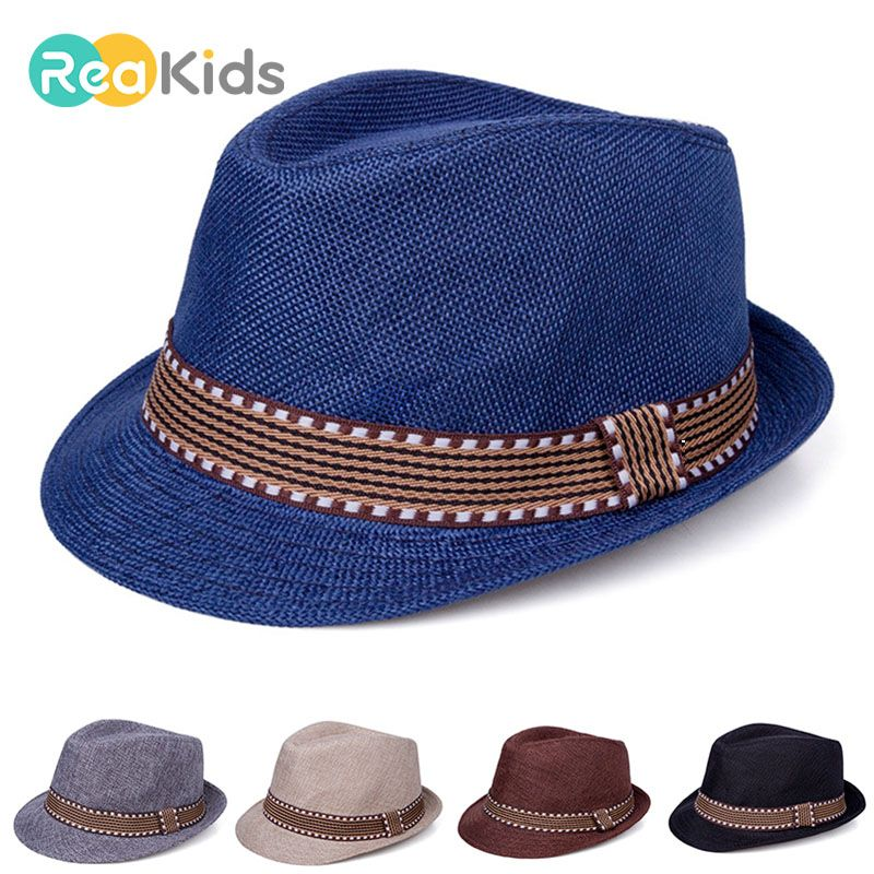 Girls Summer Hats Children Straw Hat Sun Cap Panama Hat Baby Hats Caps Beach Accessories Rose Red