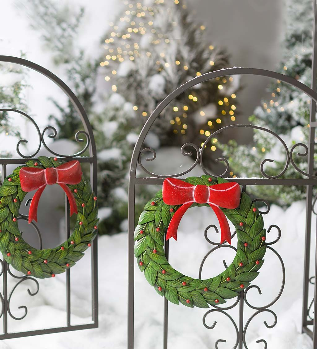 Metal Arbor Gate Wreaths Set Of 2