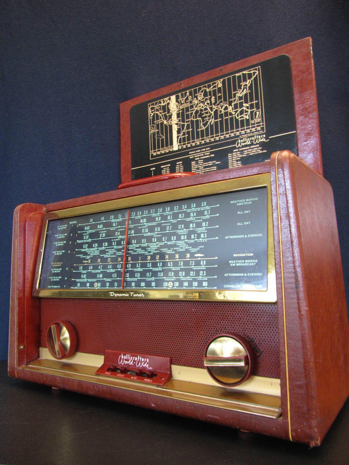 Vintage 1950s Hallicrafters Old Shortwave Analog Multiband Mid Century Radio Vintage Radio Antique Radio Retro Radios