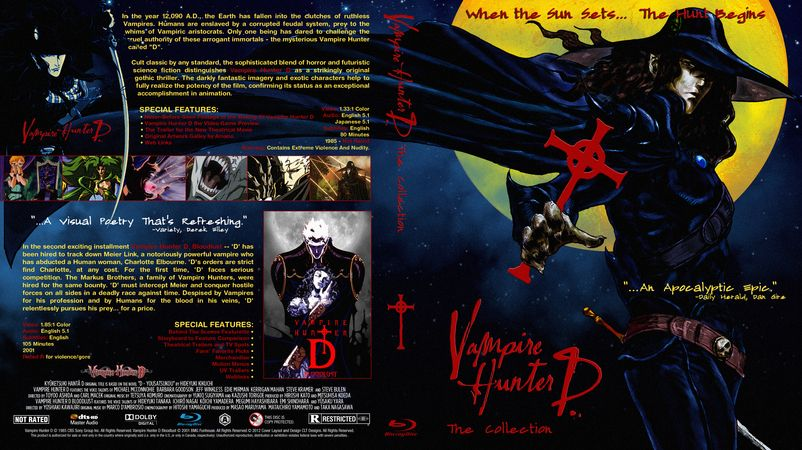 Vampire Hunter D Collection Blu-ray Custom Cover