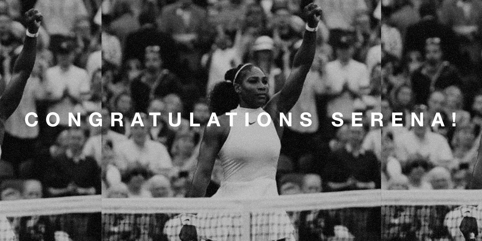 Congrats Serena!