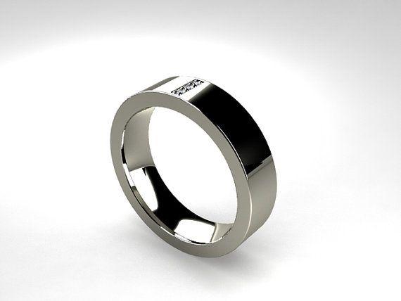 429 Titanium Ring Diamond Wedding Men Wedding Band Commitment