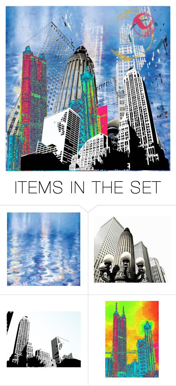 """""""Abstract City Art"""" by mlkdmr ❤ liked on Polyvore featuring art"""