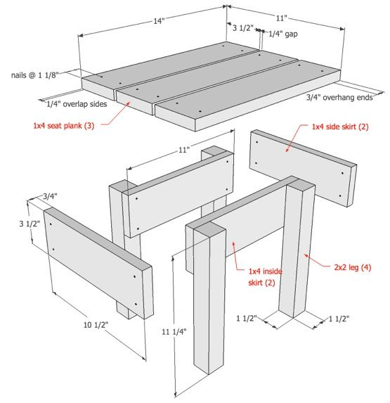 Diy wood stool drawings do it yourself diy pinterest for Do it yourself woodworking plans