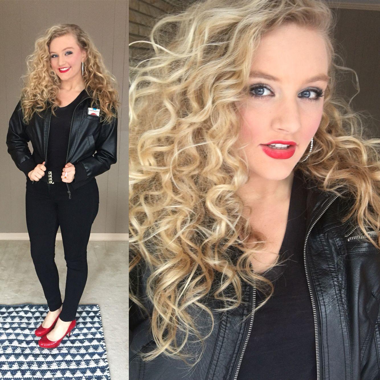 sandy grease hair makeup