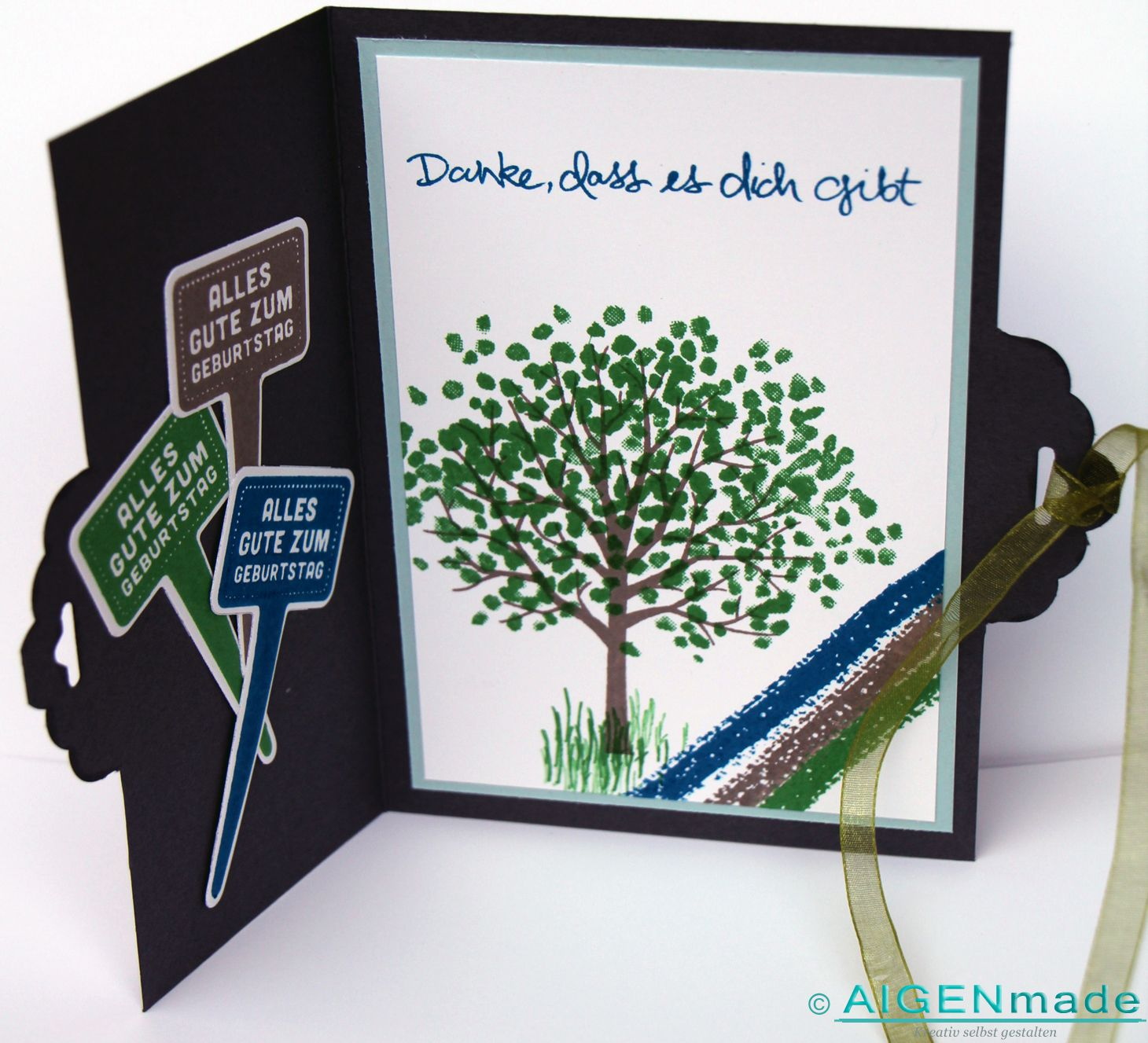 geburtstagskarte mann birthday card man stampin up geburtstag gr n blau grau green blue karte. Black Bedroom Furniture Sets. Home Design Ideas