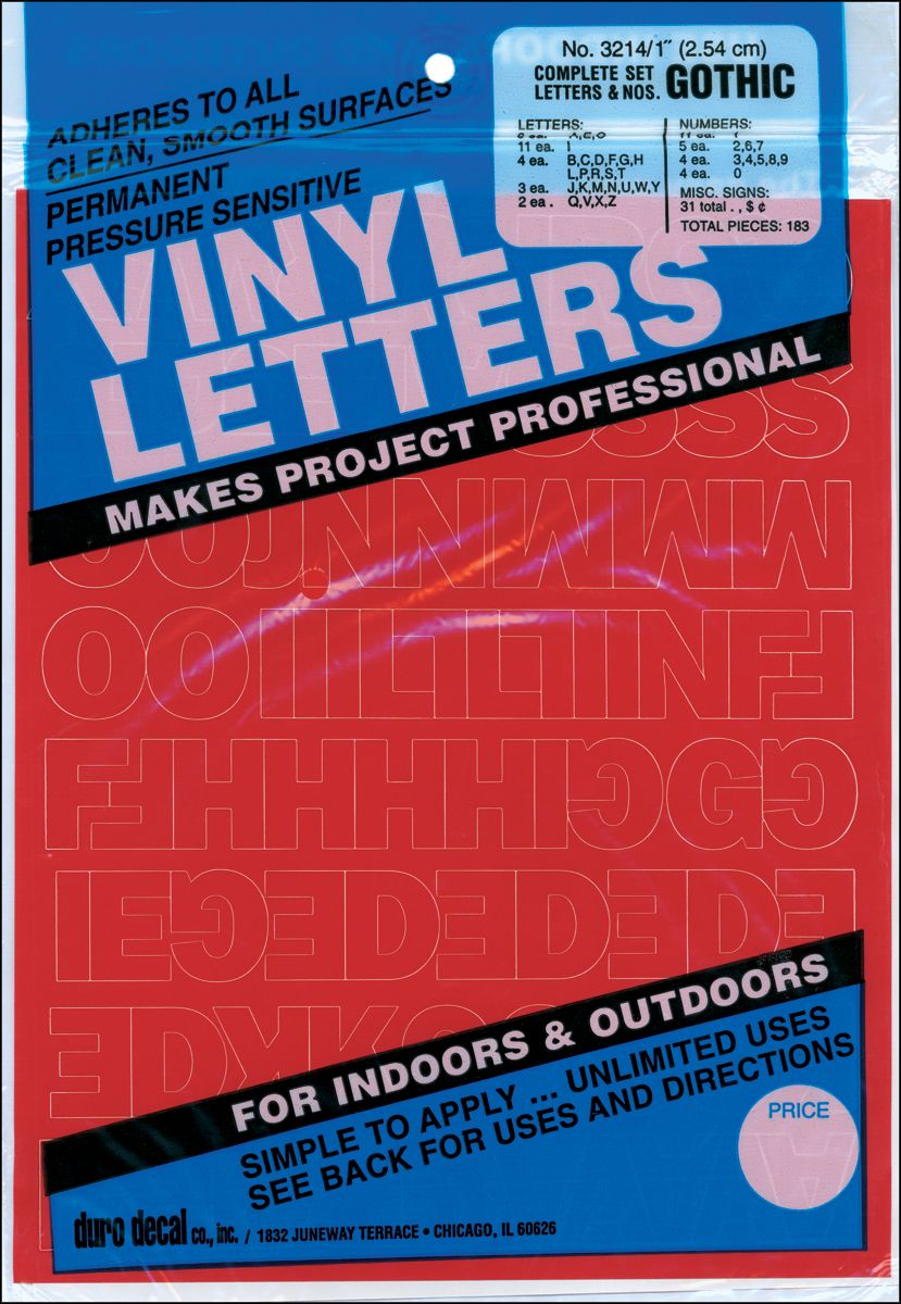 Permanent Adhesive Vinyl Letters Numbers 1 183 Pkg Red In 2021 Vinyl Lettering Letters And Numbers Adhesive Vinyl