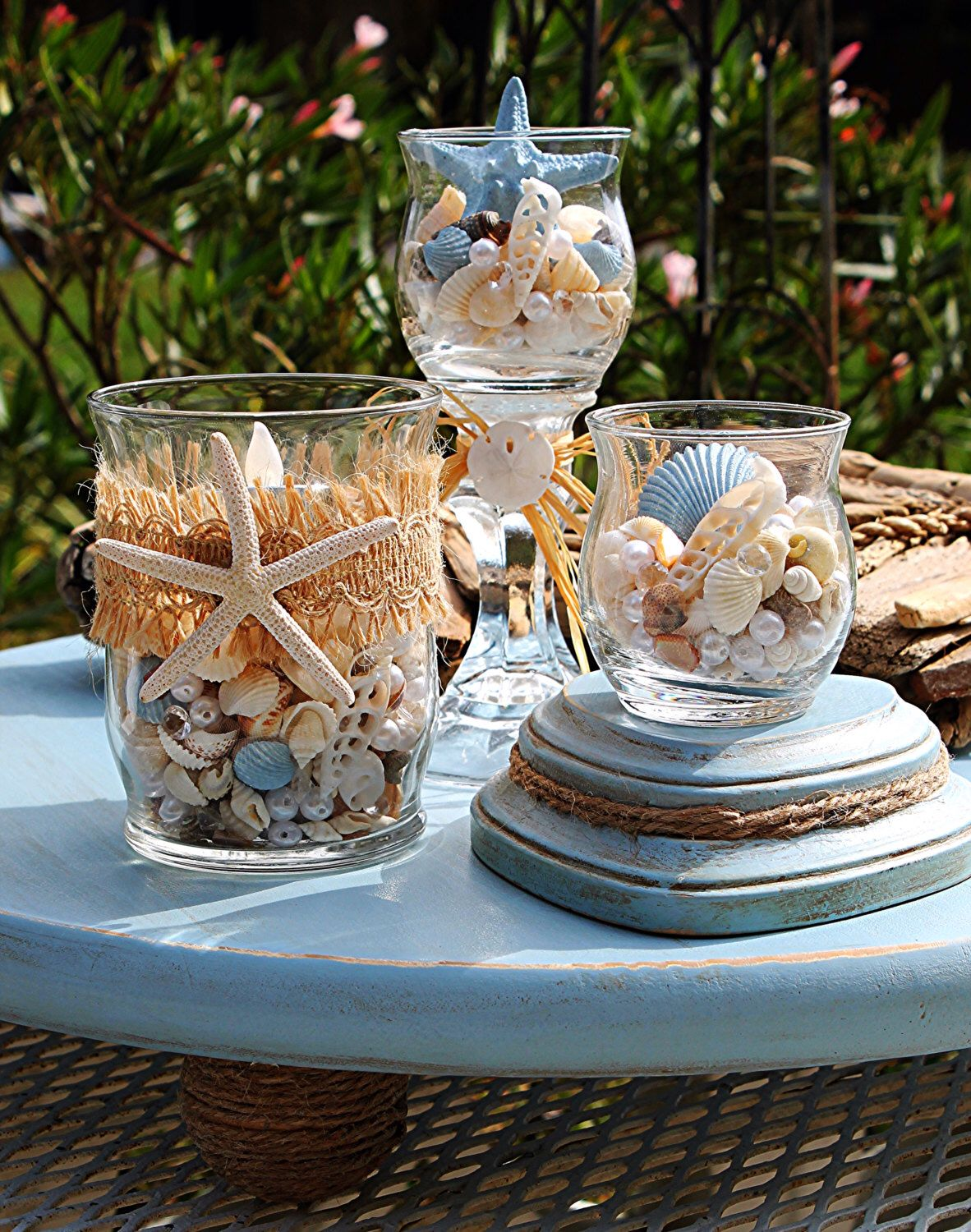Wedding decoration ideas at the beach  Beach Wedding CenterpieceBeach Wedding DecorNautical Wedding