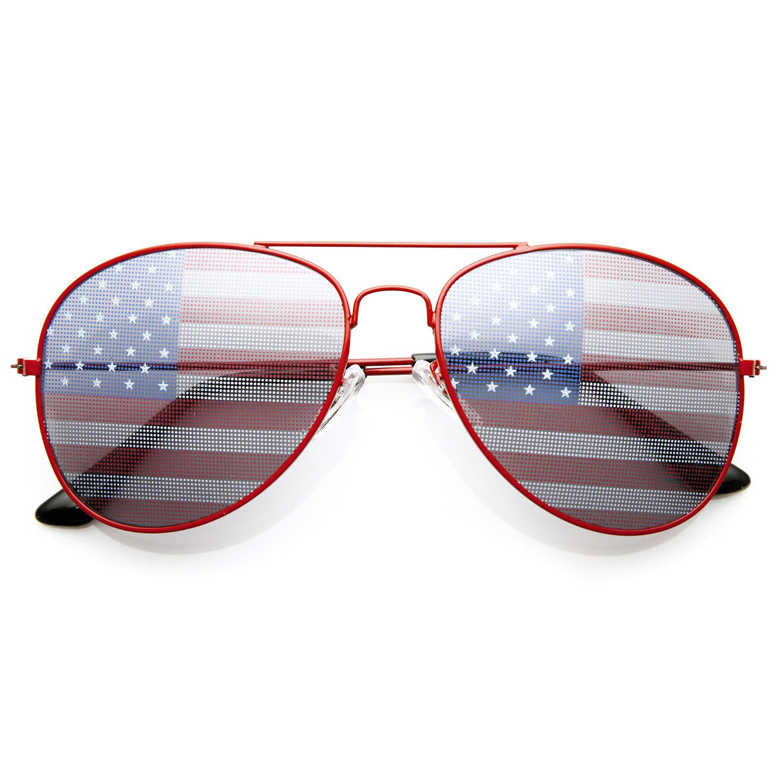 03f28f85f490 Show your patriotism and support for the USA Flag Sunglasses. Available in  a variety of classic all American colored frames! Please Note  Acrylic  painted ...