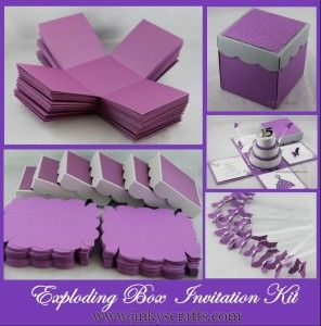 Exploding box invitation kit this is a listing for the basic parts exploding box invitation kit this is a listing for the basic parts in cakepins solutioingenieria Gallery