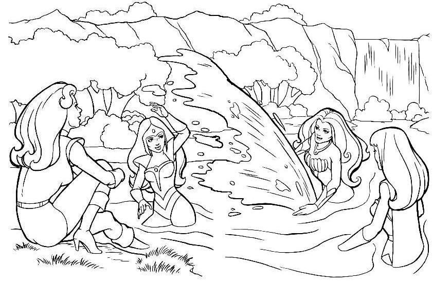 swimming with shera and her friends! Mandala coloring pages