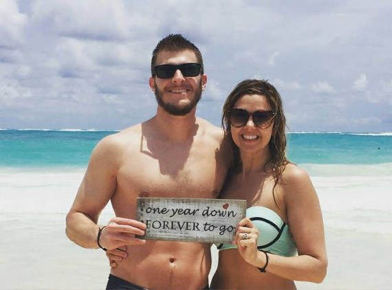 One year down forever to go wooden sign by trashfindredesigned