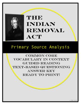 primary source analysis of andrew jackson s n removal act of primary source analysis of andrew jackson s n removal act of 1830