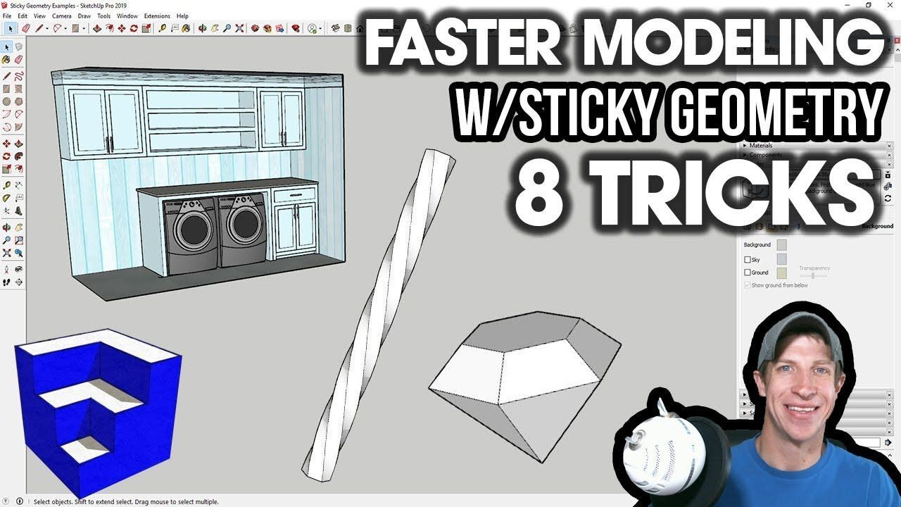 Faster Modeling In Sketchup With Sticky Geometry 8 Ways To Speed