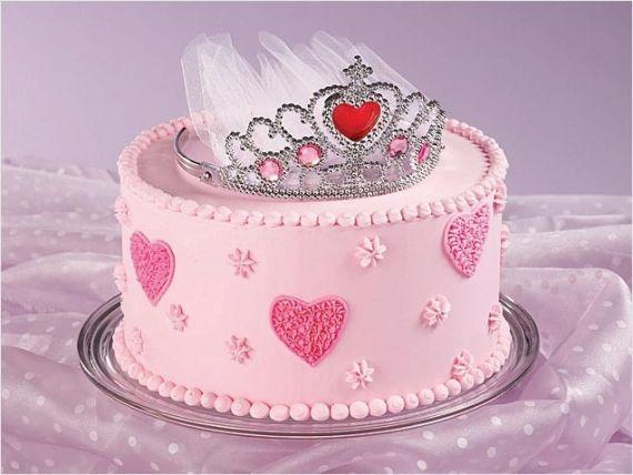 Birthday Cake Ideas For Kids  Princess Tiara CakeFit for a Princess  Arlene   Flour On My Face An idea for emma  . Easy First Birthday Cake Girl. Home Design Ideas