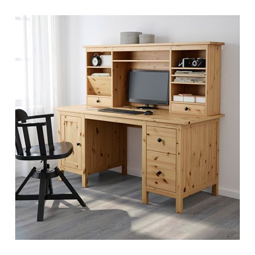 IKEA   HEMNES, Desk With Add On Unit, Light Brown , Solid Wood Is A Durable  Natural Material.You Can Mount The Drawers To The Right Or Left, According  To ...