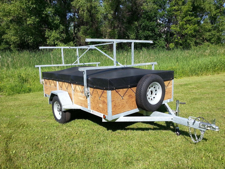 diy camper trailer boat rack