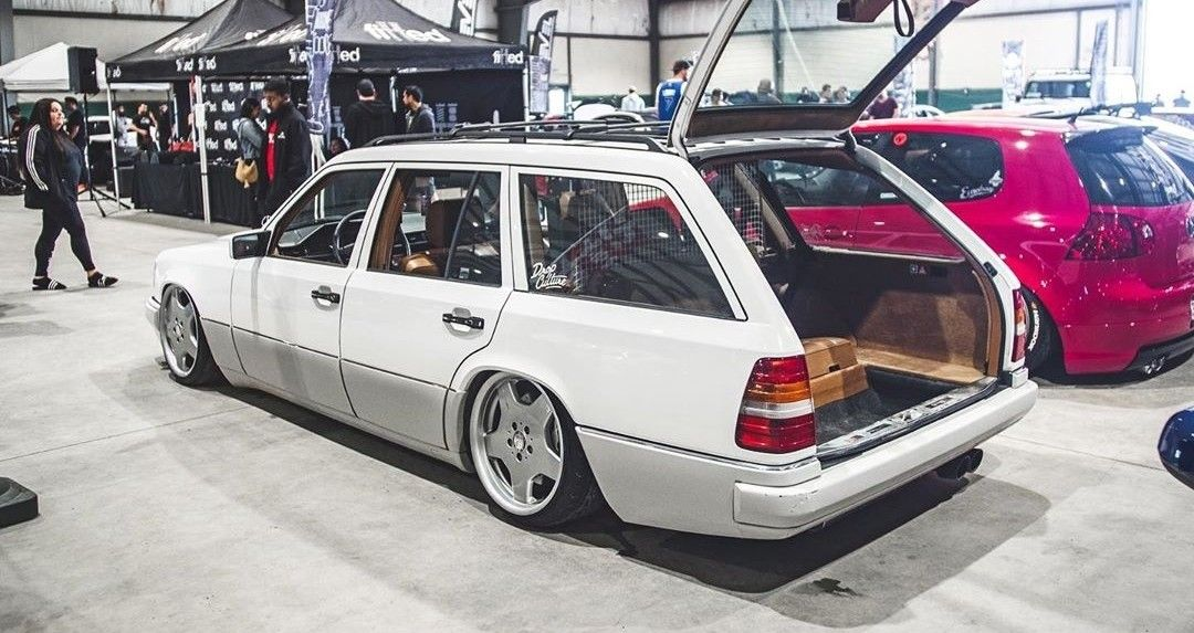 Bagged White S124 7 Seater Mercedes W124
