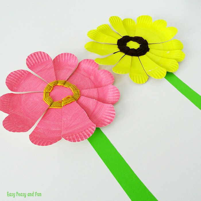 8 Sweet Spring Flower Crafts for Kids Paper Plate Flower Weaving & Paper Plate Flower Weaving | Easy peasy Flower and Easy