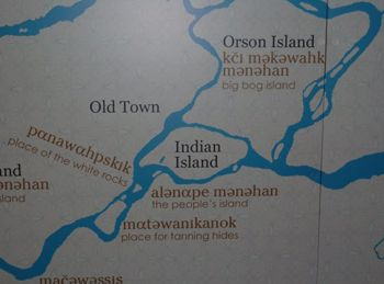 Indian Reservations Maine Map.Penobscot Indian Island Reservation Indian Island In The Center Of