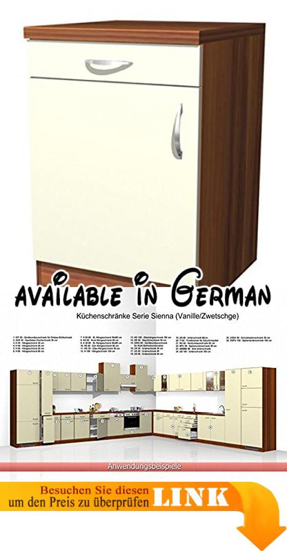 B001TKT03S  Küchen Unterschrank Sienna 60 cm Vanille Zwetschge - unterschrank küche 60 cm