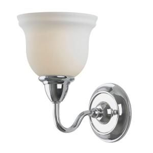 Montpellier Collection 1 Light Chrome Wall Sconce Wi838108 At The Home Depot 70 Sconces Wall