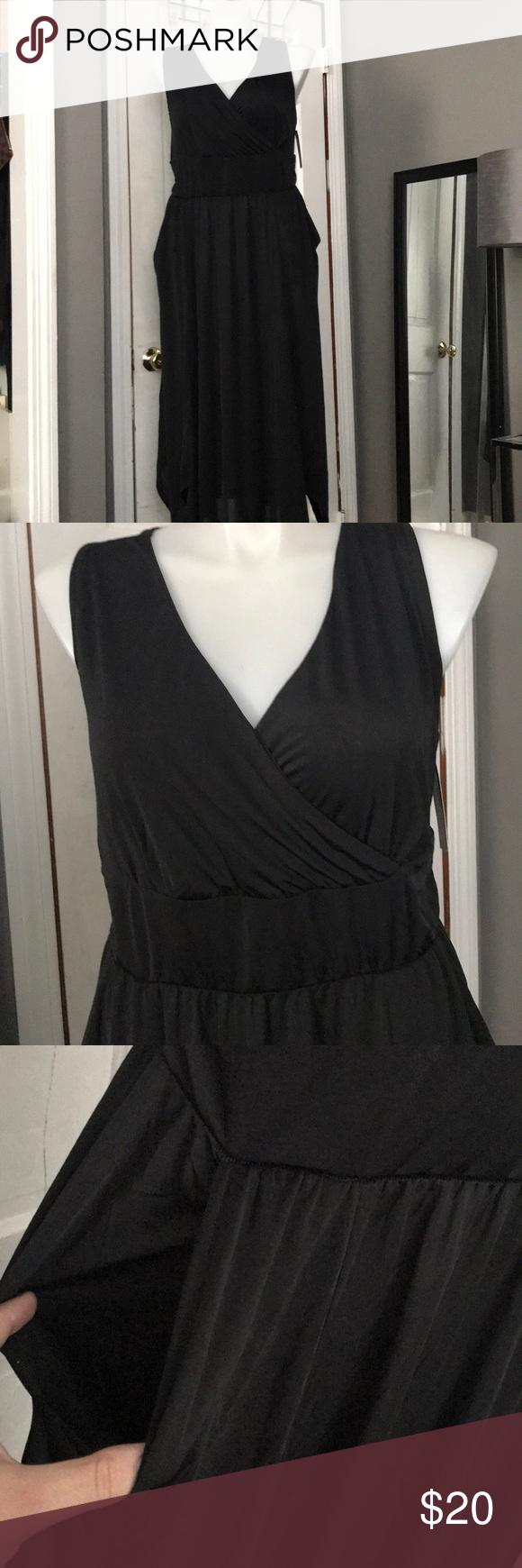 French Laundry Black Silky Maxi Dress Pockets 2x Silky Maxi Dress Pocket Dress Dresses [ 1740 x 580 Pixel ]